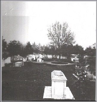 very old photo of cemetery